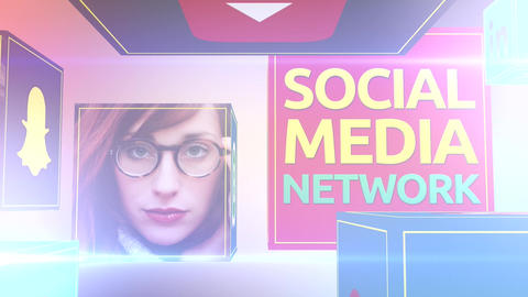 Social Media Network Plantilla de Apple Motion