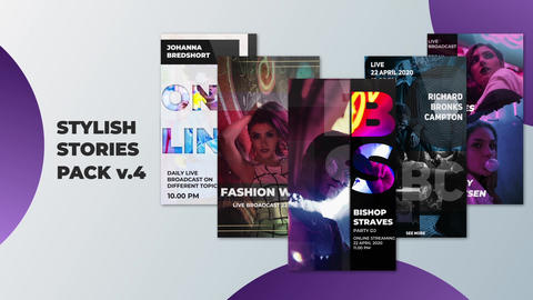 Stylish Stories Pack v 4 After Effects Template