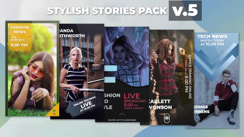Stylish Stories Pack v 5 After Effects Template