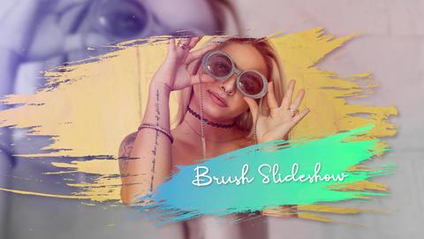Trendy Brush Media Slideshow Premiere Pro Template
