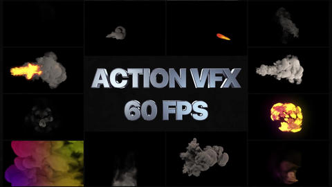 VFX Smoke And Fire Elements Apple Motion Template