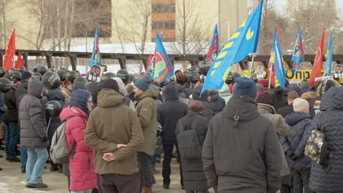 Protest in Moscow against construction, in protection of parks Live Action