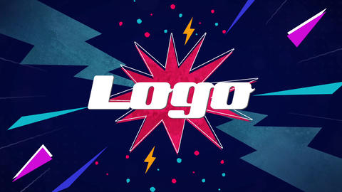 Comics Logo Premiere Proテンプレート