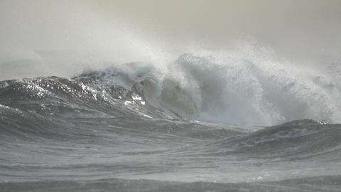 Dangerous waves crash into each other Footage