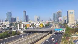 Aerial View of Tel Aviv skyline Footage
