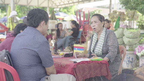 Fortune teller woman on the street of Phnom Penh city.…, Live Action
