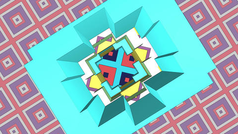 Fascinating, enchanting background. Various colorful blurry squares look and Live Action
