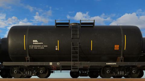 Transportation of crude oil and propane gas tanks Animation