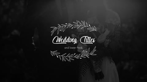 Wedding Ttles and Lower Thirds Premiere Pro Template