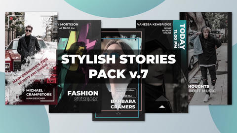 Stylish Stories Pack v 7 After Effects Template