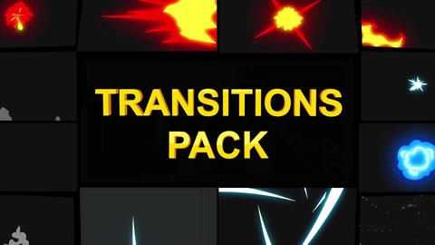 Cartoon Action Transitions Motion Graphics Template