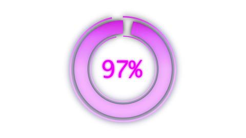 Created circular piechart countdown percentage Live Action