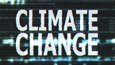 4K Climate Change Corrupted Signal Notification Display 2 Animation