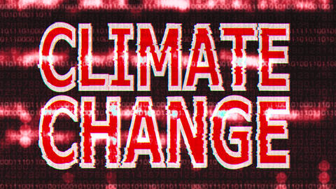 4K Climate Change Corrupted Signal Notification Display 4 Animation