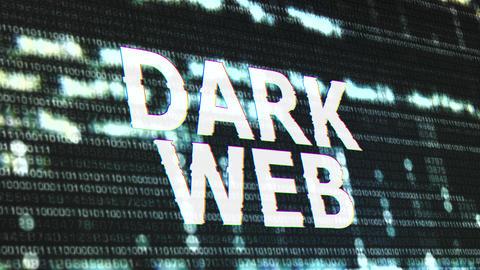 4K Dark Web Corrupted Signal Notification Display Animation