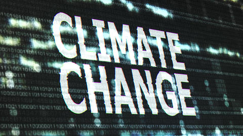 4K Climate Change Corrupted Signal Notification Display Animation