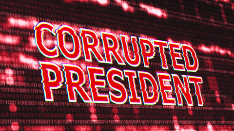 4K Corrupted President Signal Notification Display 2 Animation