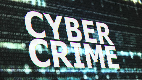4K Cyber Crime Corrupted Signal Notification Display Animation