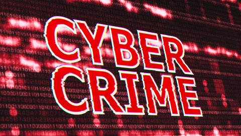 4K Cyber Crime Corrupted Signal Notification Display 3 Animation