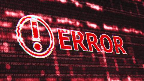 4K Error Corrupted Signal Notification Display Animation