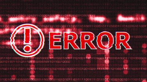 4K Error Corrupted Signal Notification Display 2 Animation