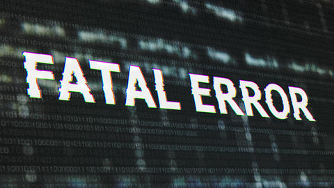 4K Fatal Error Corrupted Signal Notification Display Animation