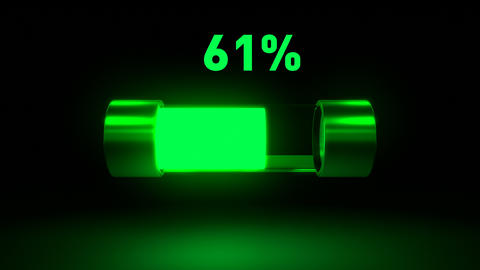 Battery charging animation showing process of device battery charging Live Action