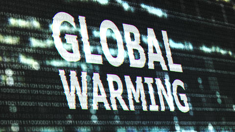 4K Global Warming Corrupted Signal Notification Display Animation