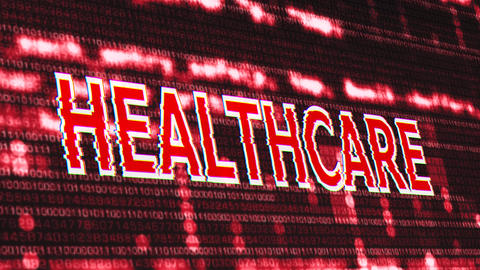 4K Healthcare Corrupted Signal Notification Display Animation
