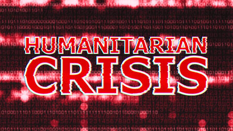 4K Humanitarian Crisis Corrupted Signal Notification Display 2 Animation