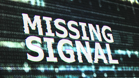 4K Missing Signal Corrupted Signal Notification Display Animation