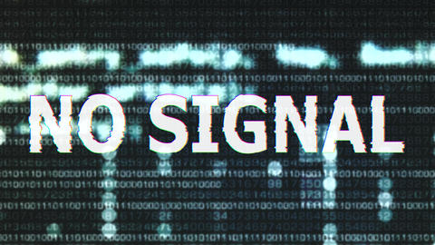 4K No Signal Corrupted Signal Notification Display 3 Animation