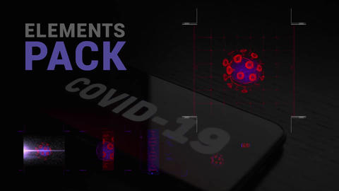 COVID-19 Elements Pack Apple Motion Template