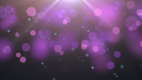 Animation flying and motion abstract particles and round bokeh on dark background Animation
