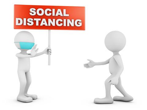 characters SOCIAL DISTANCING Photo