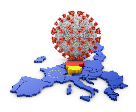 Coronavirus Germany map Photo