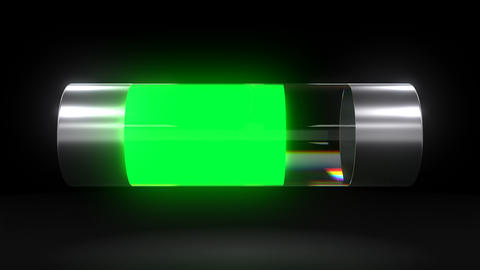 Battery discharging animation shows electronic device battery discharge process Live Action
