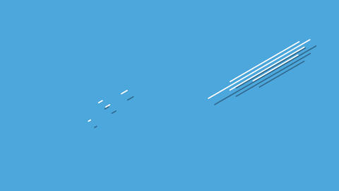 Motion retro small geometric shape on simple abstract background in 90s style Animation