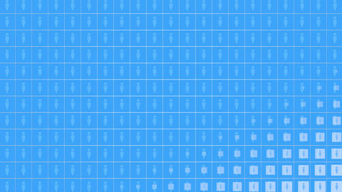 Motion Person icons on simple network background Animation