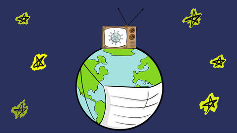 Earth breathe and TV show night Animation