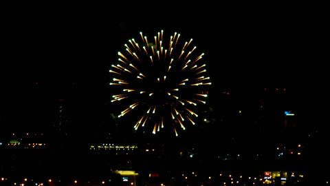 Fireworks over night city ビデオ