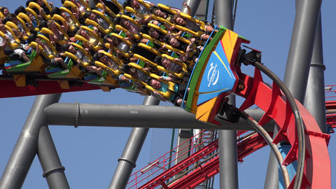 People Riding On Roller Coasters Live Action