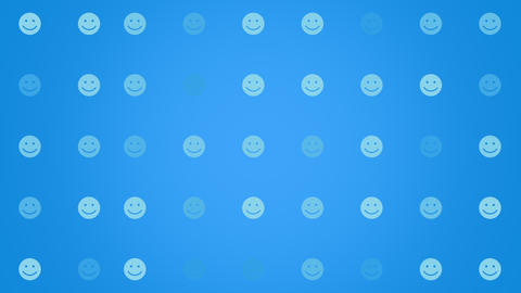 Motion Smile icon on simple network background Animation
