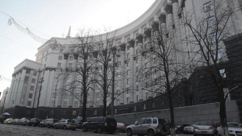 Cabinet of Ministers. Kyiv. Ukraine. Winter Live Action