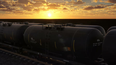 Transportation of oil and natural gas by rail Animation