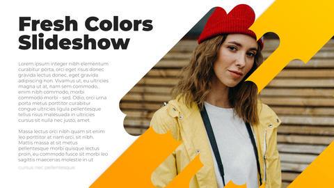 Fresh Colors Slideshow After Effectsテンプレート