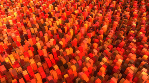 Red Cubes Flow CG動画