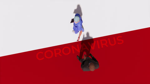 Doctor meets potential patient with coronavirus 3D concept Videos animados