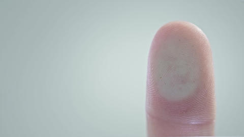 Biometric Fingerprint Security Scanner - Biometric scanner scanning a human Live Action