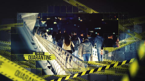 City Quarantine Opener After Effects Template